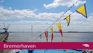 Blick über die Weser in Bremerhaven © Melanie Kiel