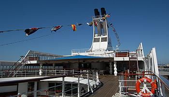 Deck auf der MS Astor © Melanie Kiel