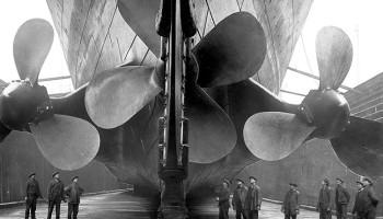 Die drei Schiffsschrauben der Titanic wurden von Dampfmaschinen mit einer Gesamtleistung von 51.000 PS angetrieben © Premier Exhibitions, Inc.