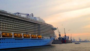 Die Anthem of the Seas im Hamburger Hafen © Melanie Kiel
