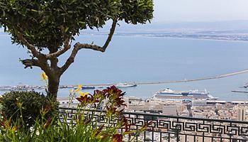 Weiter Blick über den Hafen von Haifa © goisrael.de