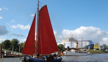 Die 1883 von der Werft Van Duijvendijk gebaute Tjalk (Boeierschuit) Hoop op Welvaart © Melanie Kiel