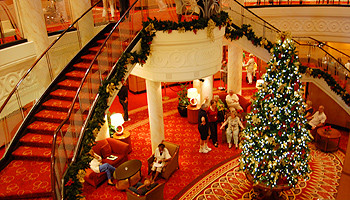 Weihnachten an Bord der Queen Mary 2 von Cunard © Melanie Kiel