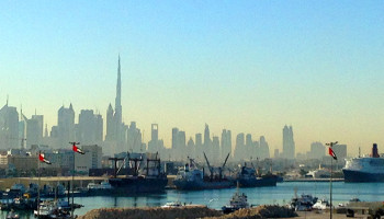 Blick auf die Skyline Dubais © Melanie Kiel