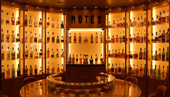 "Aus 130 Whiskys kann man im ""Notes"" beim Whisky Tasting wählen © Melanie Kiel"