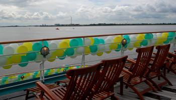 Deck Chairs auf der Heck-Terrasse © Melanie Kiel
