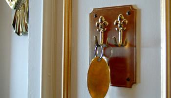 Hier gibt's noch Zimmerschlüssel, statt Key Card © Melanie Kiel