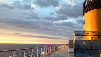 Fabelhafte Ausblicke an Bord der Costa Favolosa © Melanie Kiel