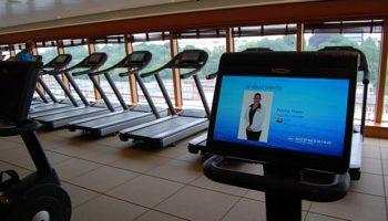 Um bei dem vielen guten Essen an Bord in Form zu bleiben, geht's ins Body Waves Fitness Center mit neuen Fitnessgeräten und Kursangeboten © Melanie Kiel