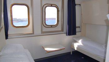 Die Princess Seaways verfügt über 478 Kabinen verschiedener Kategorien. Besonders tolle Ausblicke genießt man aus den Familienkabinen für 4-5 Personen am Bug des Schiffes © Melanie Kiel