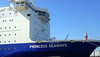 Die Princess Seaways am Pier in Amsterdam © Melanie Kiel