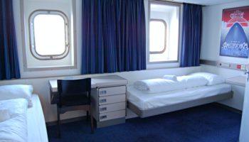 Zudem gibt es vier behindertengerechte Kabinen mit zwei Betten und großem Bad auf der Princess Seaways © Melanie Kiel