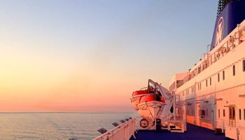 Sonnenaufgang an Deck der DFDS Princess Seaways © Melanie Kiel