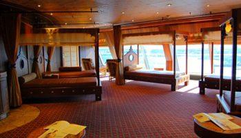 Die Ruhebereiche im Samsara Spa gehören zu den Highlights an Bord