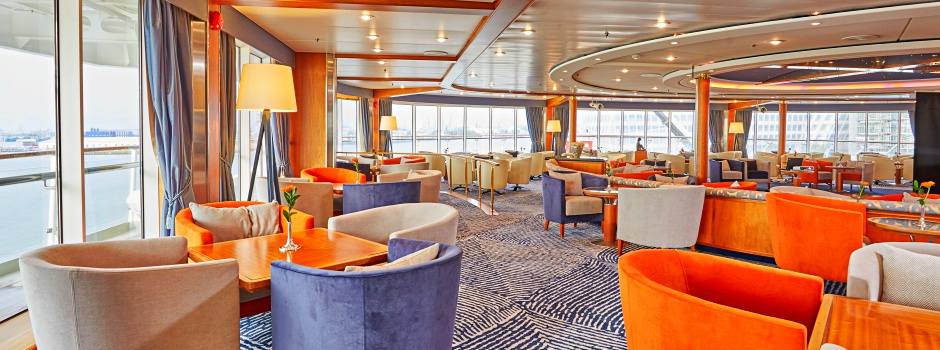 Belvedere Lounge auf der MS EUROPA © Hapag-Lloyd Cruises / Wyrwa