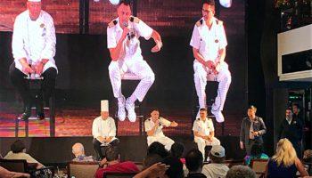 Beim Q&A stehen Hotel Manager, Chef de Cuisine und Chefingenieur dem Publikum gerne Rede und Antwort © Melanie Kiel