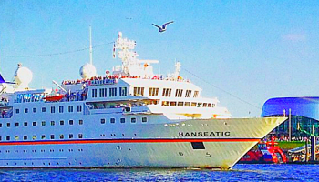 Expeditionsschiff HANSEATIC läutet in Hamburg die Deutschland-Saison der Hapag-Lloyd Cruises Flotte ein © Melanie Kiel