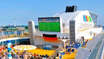 Fußball-Weltmeisterschaft 2018 auf AIDA-Schiffen © AIDA Cruises