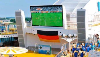 Fussball-WM 2018 auf AIDA © AIDA