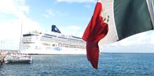 Die Norwegian Dawn im Hafen von Cozumel © Melanie Kiel