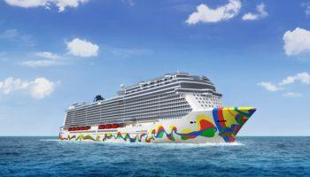 Rumpfbemalung der Norwegian Encore enthüllt © Norwegian Cruise Line