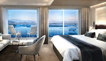 Balkonkabine auf der MS Finnmarken © Hurtigruten