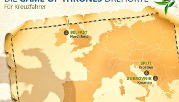 Game-of-Thrones-Drehorte, die mit dem Kreuzfahrtschiff zu erreichen sind © UNIQ GmbH/Captain Kreuzfahrt