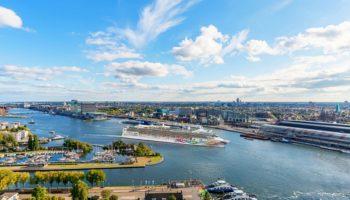 Die Norwegian Pearl in ihrem neuen Heimathafen Amsterdam © Norwegian Cruise Line