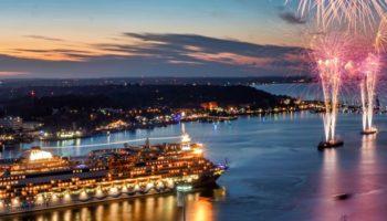 Kieler Woche 2018 AIDA Cruises Abschlussfeuerwerk © CH Lietzmann