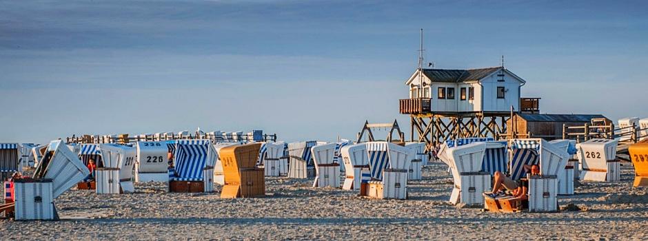 Zu den schönsten Plätzen zum Entspannen im Norden zählt der Strand von St. Peter-Ording © Foto Oliver Franke
