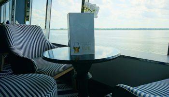 Wunderbare Ausblicke genießt man auf der Vasco da Gama in der Lounge The Dome © Melanie Kiel
