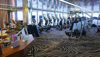 Training mit Meerblick im Fitnessstudio der Vasco da Gama © Melanie Kiel
