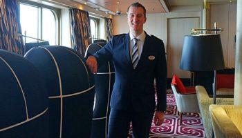 Ein Lieblingsplatz Max Klausens, Hotel Managers der Vasco da Gama, ist das Lesezimmer