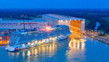 Die Norwegian Encore in der Meyer Werft © Norwegian Cruise