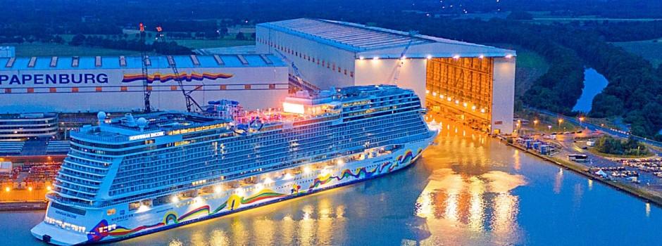 Die Norwegian Encore in der Meyer Werft © Norwegian Cruise