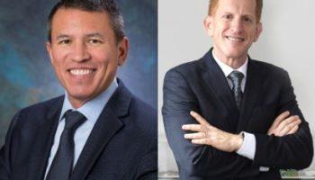 Andy Stuart (.), scheidender President und CEO bei Norwegian Cruise Line, und sein Nachfolger Harry Sommer (r.), derzeit President International bei Norwegian Cruise Line Holdings © NCL