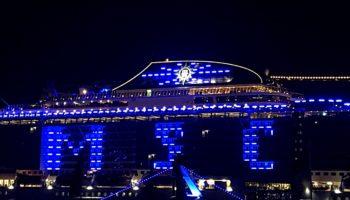 Blaues Spektakel Taufe Der Msc Grandiosa Im Hamburger Hafen