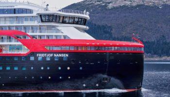 Zweites Hybrid-Expeditionsschiff MS Fridtjof Nansen © Hurtigruten
