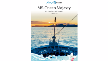 Neuer Katalog mit der Ocean Majesty 2021 © Hansa Touristik