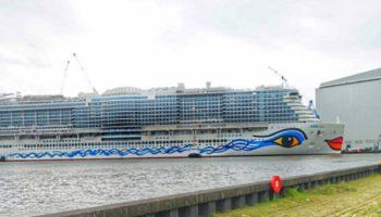 AIDAcosma präsentiert sich erstmals der Öffentlichkeit Foto: AIDA Cruises